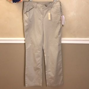 NWT Jones New York Sport Stretch Slim Bootcut pant